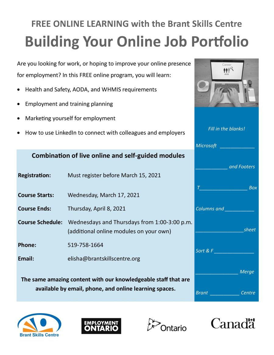 Building your online job porfolio poster