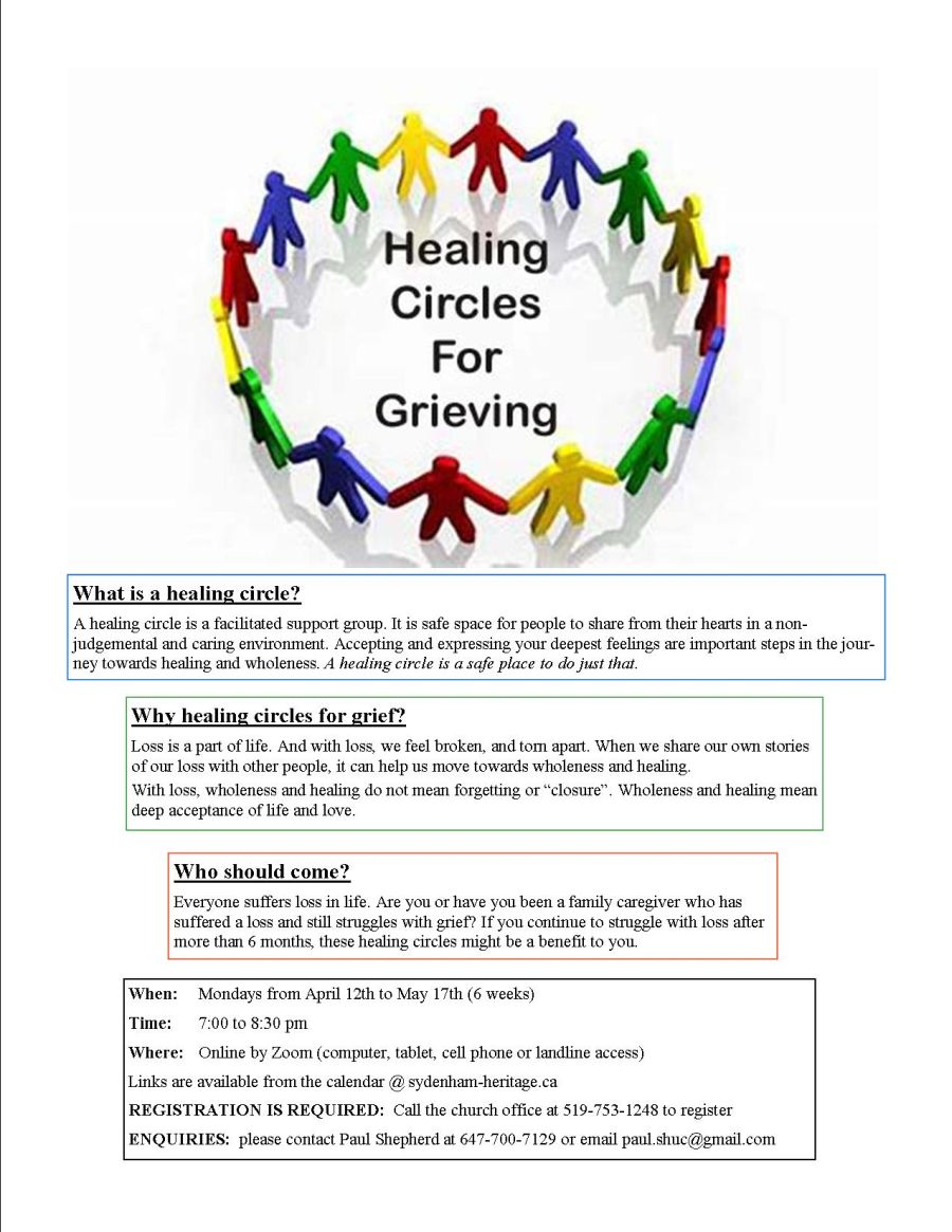 Healing Circles For Grieving poster